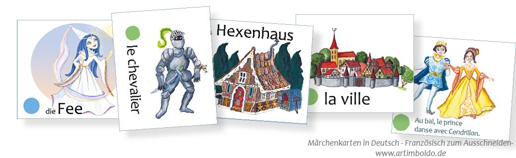 Märchenkarten zum Ausschneiden Deutsch-Französisch
